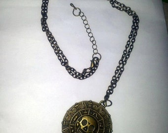 Aztec curse coin necklace of first moon Pirates of the Caribbean
