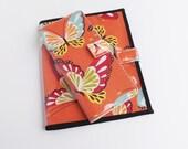 JW Ministry Organizer Set: Magazine Holder/Folio and Tract Holder-Orange Butterfly