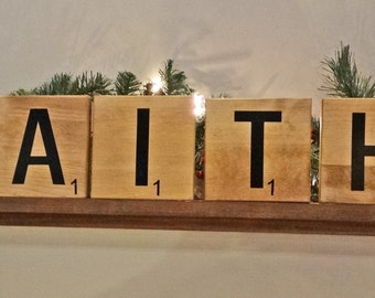 Scrabble Tiles Large- 5x5 Wall Decor / Ready to Hang or Stand Alone
