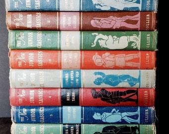 Vintage Ten Book Set of The New Junior Classics