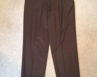 Escada - Smart Brown Designer Straight Leg Trousers - Never worn!