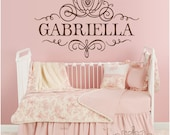 PERSONALIZED Princess Cinderella Coach Girl Name - Wall Decal