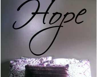 Hope Vinyl Decal - FREE SHIPPING
