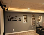 "Vinyl Wall Decal ""Man Cave"" Home Decor - Wall Art For Husband's Man Cave"