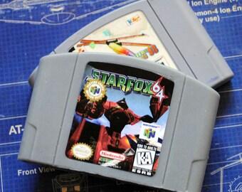 N64 Starfox 64 - Retro and geeky! Handmade cartridge parody soap - Starfox 64, Nintendo Cart