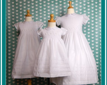 Flower girl dresses, white flower girl dresses, girls white dresses, girls smocked dresses, smocked baby dresses