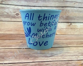 Personalized Flower Pot, Mothers Day Gift, Spring Planters