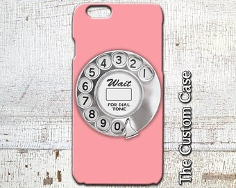 Rotary Phone Dial IPhone Case, Retro Pink Rotary Dial Iphone Cover,  Iphone 4/5/5c/6/6+/6s, Galaxy S3/S4/S5/S6/S6 Edge/6Edge+, Note 3/4/5