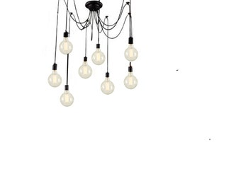 Pendant Chandelier - Multi Pendant Light - Modern Pendant Light - Pendant Lighting - Swag Light - Hanging Light - Swag Chandelier - Lighting