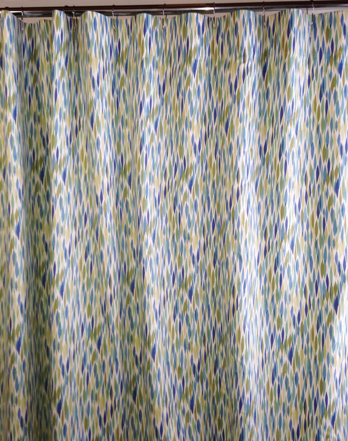 fabric shower curtain Custom High End Waverly Bits by HomeandHome