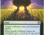Temple of Mystery - MTG handmade altered art