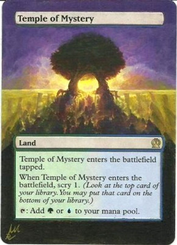 temple of mystery mtg handmade altered art by maytealters