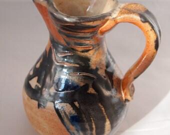 Shino Pitcher, Wood fired Handmade Stoneware