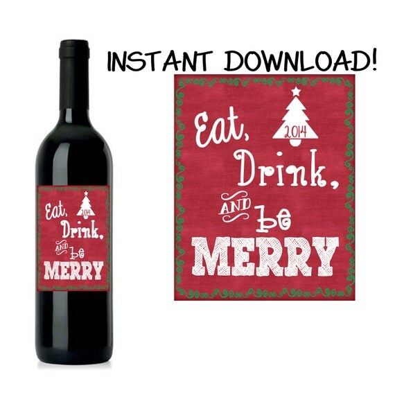 Eat, Drink, & Be Merry Wine Label