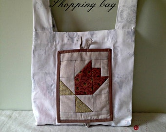 Grocery bag-Shopping bag-Eco-friendly recycled bag-Grocery bag-Quilted bag-Farmer bag-Ecofriendly-Upcycled tote-Market bag
