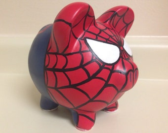 The Amazing Spider-Man Painted Ceramic Piggy Bank Medium