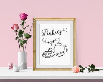 Tea Art Print {Tea Party or Kitchen Printable Art }