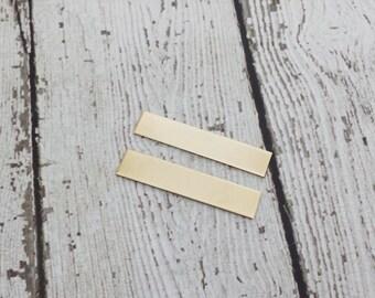 Nu Gold Tag Blanks - 18 Gauge Rectangle Tags - Nu Gold Stamping Blanks