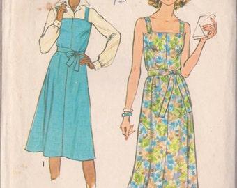 Simplicity 8546 Vintage 1977 Maxi/Midi Dress Pattern