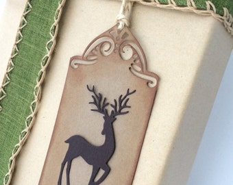 Holiday Gift Tags, Stag Gift Tags, Handmade Gift Tags, Holiday Gift Cards, Unique Christmas Tags