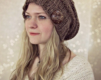 Slouchy Beanie, Knit Beanie, Slouch hat, Fall Fashion