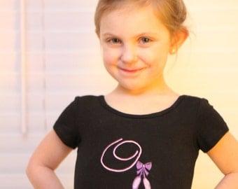 Personalized Dance Leotard Custom Monogrammed Dancewear for Girls / Toddlers Embroidered Dancewear