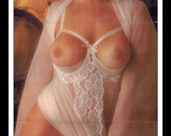 "Mature Playboy January 1976 : Playmate Centerfold Daina House 3 Page Spread Photo Wall Art Decor 11"" x 23"""