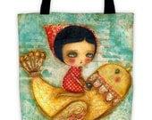Precious Cargo - Reusable fabric tote bag by Danita Art