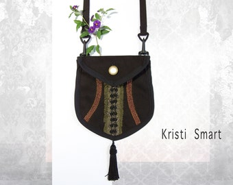 bohemian hip pouch purse and holster pocket