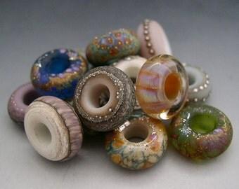 Naos Fortuna BIG HOLE Large Hole Glass Beads Set Made To Order Handmade Lampwork SRA