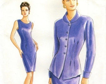 Vogue 9287 FITTED SHEATH DRESS w/ Jacket Sizes 8-12 Very Easy Vogue