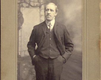 Brooklyn Gentleman Antique Photograph to Frame or for Collage, Scrapbooking, Paper Arts, Mixed Media and MORE PSS 2312