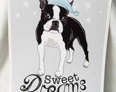 Sweet Dreams Boston Terrier - 8x10 Eco-friendly Print