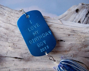 Personalized Birthday Gift for Him Birthday Gift for Husband Boyfriend Birthday Gift Blue Fishing Lure Gift for Guy Romantic Birthday Gift