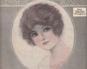 Because They All Love You 1924 Sheet Music Tommie Malie Jack Little Barbelle