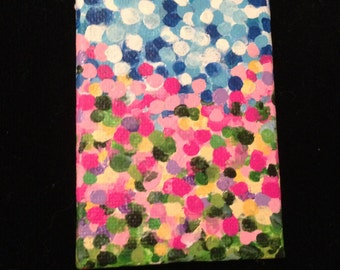 ACRYLIC ACEO abstract original PAINTING