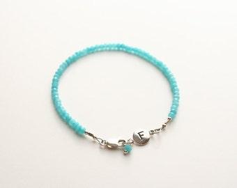 Initial Bracelet, Gemstone Jewelry, Personalized Jewelry