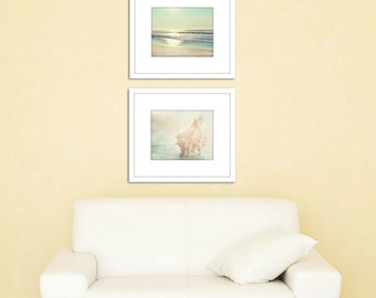 Nautical wall decor, set of 3 prints, ocean photography, coastal wall art, seashell prints, coastal prints, ocean decor, nautical wall art