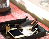 Handcrafted Leather Valet Tray - Choose From Black, Chocolate Brown, Or Caramel Leather