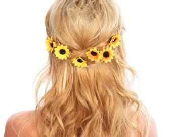 Sunflower Bobby Pins / Flower Hair Pins / Sunflower Hair Clips / Kristin Perry