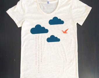 Clouds Rain Bird Women's T-Shirt (free shipping)