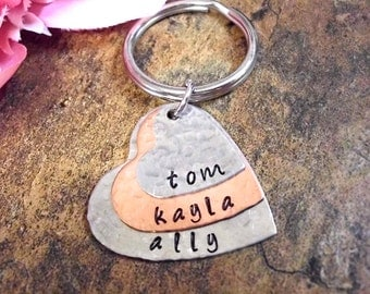 Super Sale Now Valentines Day, Dad Keychain, Valentines Gift, Father's Day Jewelry - Personalized Keychain - Father's Day Gift - Gift for Da