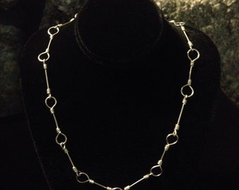 22 Inch Handmade Solid Sterling Silver Chain - Reiki Infused Necklace