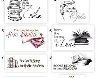 Personalized Sticker ExLibri – books belong to ... Sticker, Library Sticker, Personalized Book Sticker, Teacher, Librarians. Set of 90