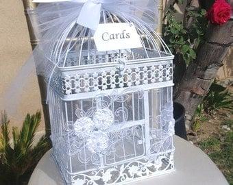 Birdcage Card Holder, Birdcage Money Box, Money Box, Wedding Birdcage, Card Holder, Card Box, Wedding Decor, Wedding Gift Box, *NEW