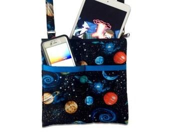 Outer Space Crossbody Bag // Galactic Sling Bag // Crossbody Purse