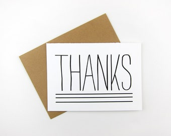 Rustic Thanks: Thank You Card