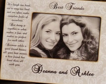 Best Friends Personalized Picture Frame, 4x6 frame, Personalized Best Friend Frame, Personalized Frame, Best Friend Gift Best Friend Wedding