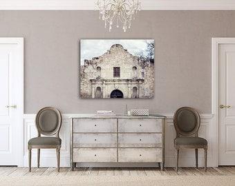 Canvas Wall Art: Alamo Canvas Wall Art, The Alamo, Spanish Canvas Decor, Spanish Art, Spanish Architecture, Texas Photography, Texas Canvas.