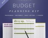 Mini Budget Planning Kit – Editable Half Letter Size, Bill Tracker, Bill Pay Organizer, Personal Finance  //  Household PDF Printables